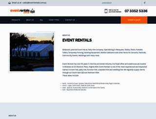 eventrentals.com.au screenshot