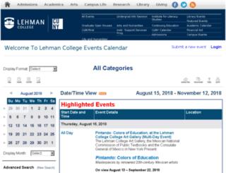 events.lehman.edu screenshot