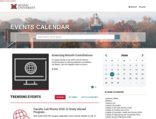 events.muohio.edu screenshot