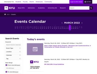 events.nyu.edu screenshot