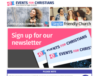 eventsforchristians.co.uk screenshot