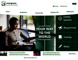 evergreen.edu screenshot