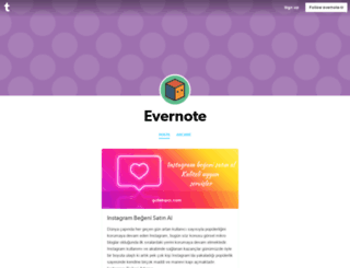 evernote-tr.tumblr.com screenshot