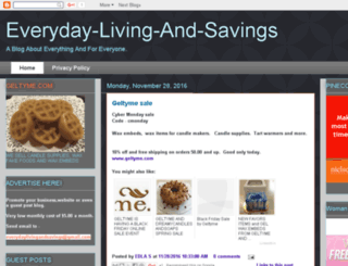 everyday-living-and-savings.com screenshot