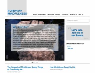 everyday-mindfulness.org screenshot
