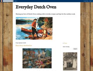 everydaydutchoven.com screenshot