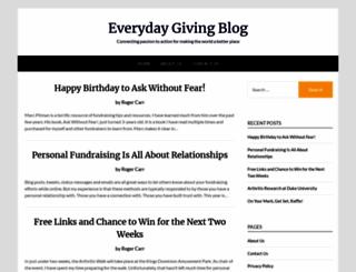 everydaygivingblog.com screenshot