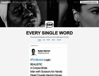everysinglewordspoken.tumblr.com screenshot