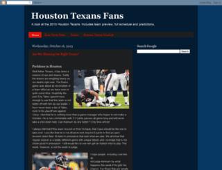 everything-texans.blogspot.com screenshot