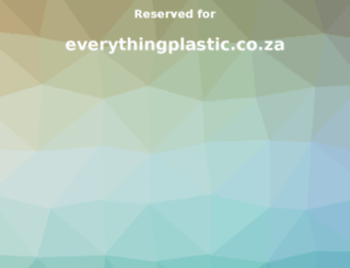 everythingplastic.co.za screenshot