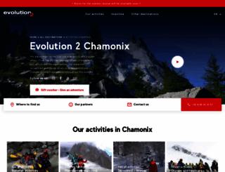 evolution2-chamonix.com screenshot