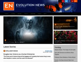 evolutionnews.org screenshot