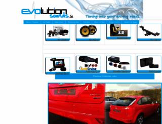 evolutionsounds.ie screenshot