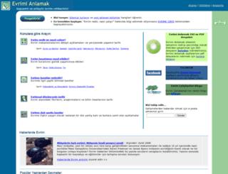 evrimianlamak.org screenshot