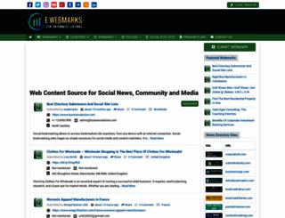 ewebmarks.com screenshot