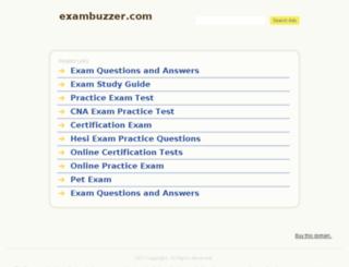 exambuzzer.com screenshot