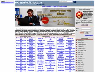 examcollectionvce.com screenshot