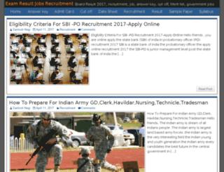 examresultjobs.in screenshot