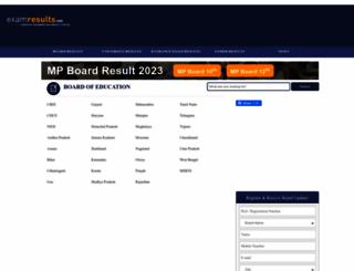 examresults.net screenshot