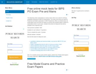 exams.educationobserver.com screenshot