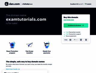 examtutorials.com screenshot