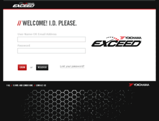 exceed.yokohamatire.com screenshot