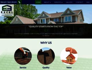 excel-roofing.com screenshot