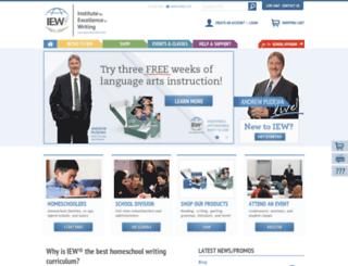 excellenceinwriting.com screenshot