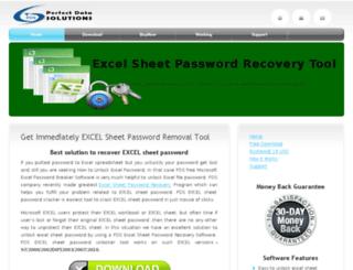 excelsheetpasswordrecovery.com screenshot