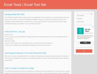 exceltoolset.com screenshot