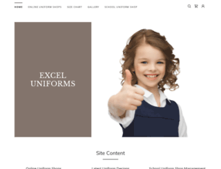 exceluniforms.com.au screenshot