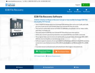 exchange.edbfilerecovery.org screenshot