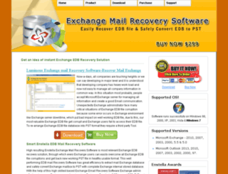 exchange.mailrecoverysoftware.com screenshot