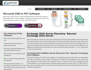 exchange2010serverrecovery.microsoftedbtopst.org screenshot
