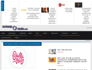 exchange4media.mobi screenshot