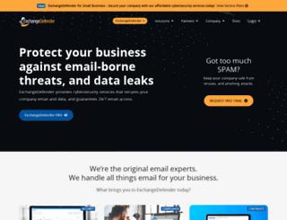 exchangedefender.com screenshot