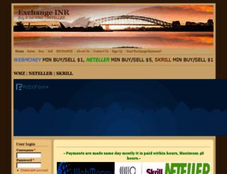exchangeinr.com screenshot
