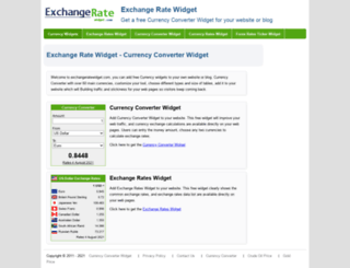 exchangeratewidget.com screenshot