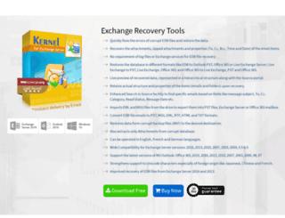 exchangerecoverytools.org screenshot
