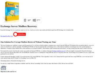exchangeservermailboxrecovery.edbtopstfile.com screenshot