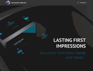 exclusivelycards.com screenshot