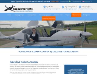executiveflight.nl screenshot