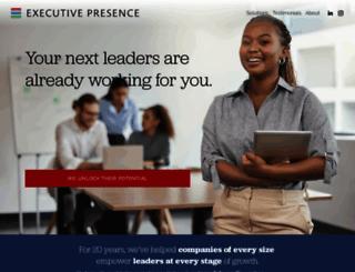 executivepresence.com screenshot