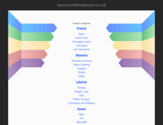 exercisebikeplanet.co.uk screenshot