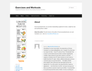 exercisesandworkouts.com screenshot