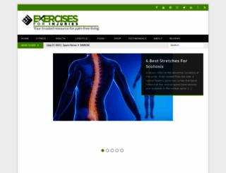 exercisesforinjuries.com screenshot