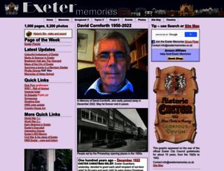 exetermemories.co.uk screenshot