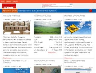 exhale-tz.com screenshot