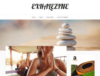exhalezine.com screenshot
