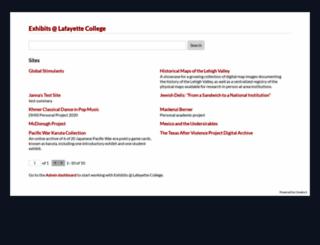 exhibits.lafayette.edu screenshot